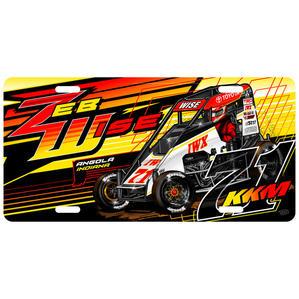 "Zeb Wise ""Making a Statement"" License Plate"