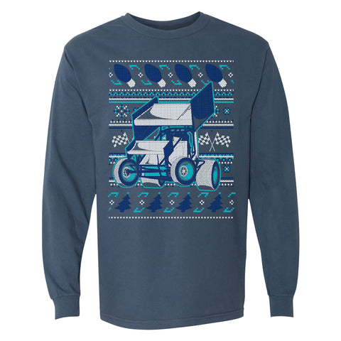 """Racing Around the Christmas Tree"" Long Sleeve T-Shirt"