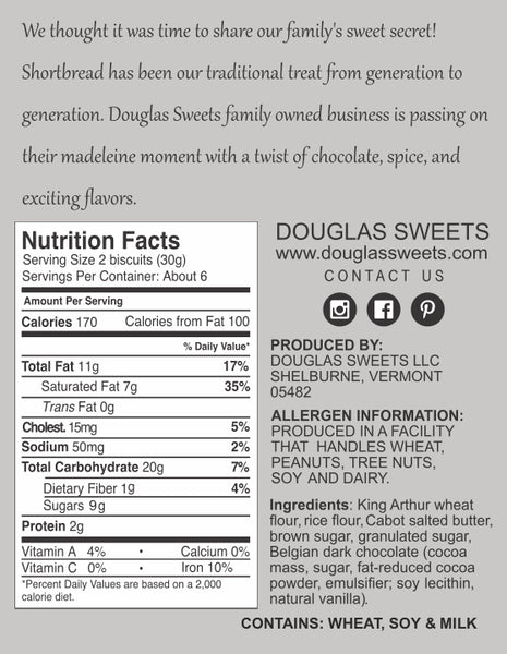 Traditional Shortbread & Dark Chocolate - Douglas Sweets