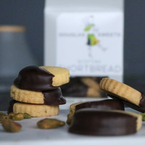 Pistachio Lavender & Dark Chocolate Shortbread - Douglas Sweets