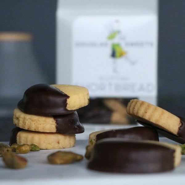 Pistachio Lavender & Dark Chocolate Shortbread