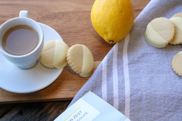 Lemon Zest & White Chocolate Shortbread