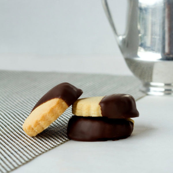 Traditional Classic Shortbread Cookies Dipped in Dark Chocolate  - Most Popular Flavor Alert