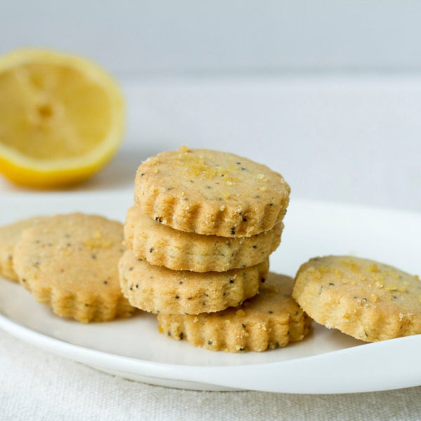 lemon poppy shortbread cookies - buy online - made in Vermont