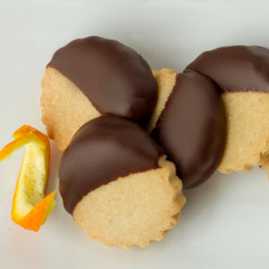 orange shortbread cookies with belgian chocolate - buy online - made in vermont