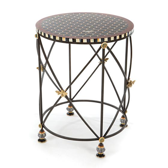 MacKenzie Childs Honeycomb Accent Table