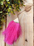 Fashion Pink Tassel with Gold Chain Necklace
