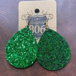 Fashion 806 Glitter Teardrop Earrings