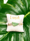 Elite White Marble Beads Green Stone Bracelet