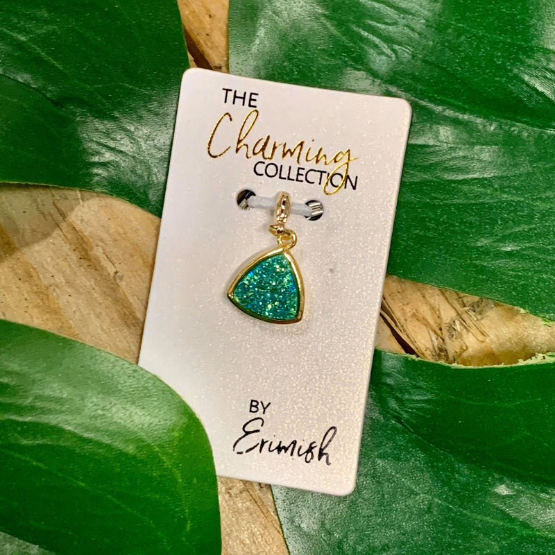 The Charming Collection Blue-Green Triangle Druzy