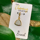 The Charming Collection Silver Triangle Druzy