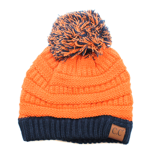 CC Pom Pom Orange/Navy
