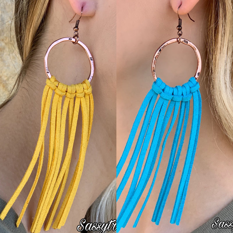 Turquoise Haven Tassel Earrings