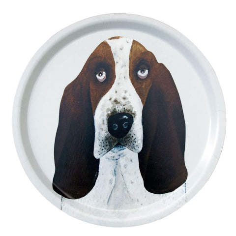 Poppy The Basset Hound Dog Tray