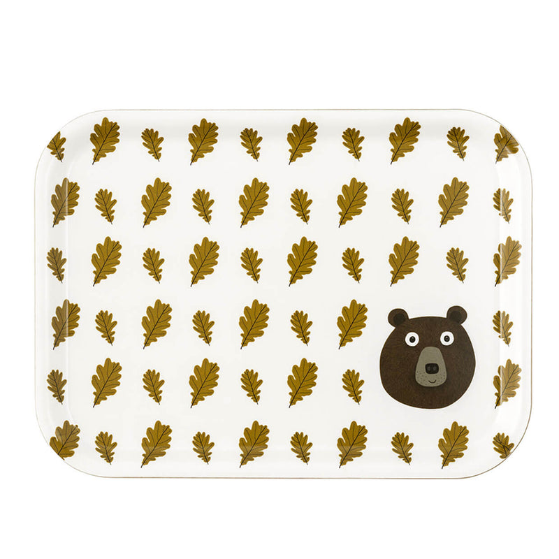 Mister Bear and Oak Leaves Tray