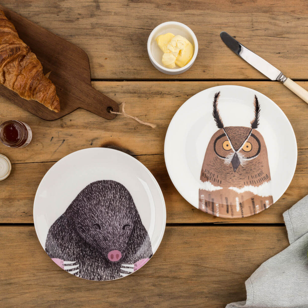 SALE Nocturnal Owl Plate