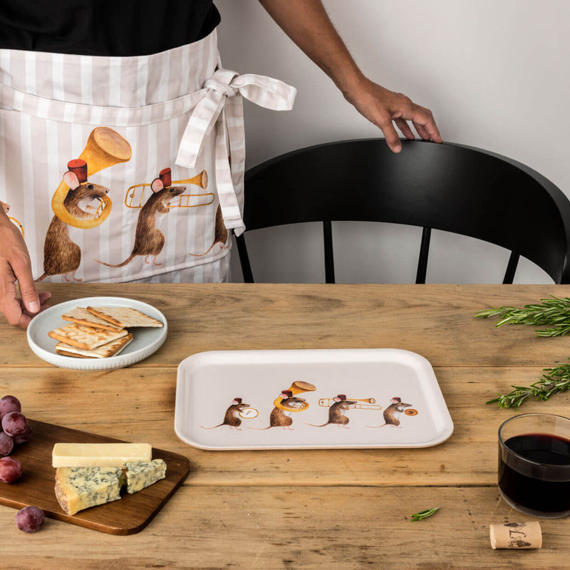 Christmas Marching Mice Tray