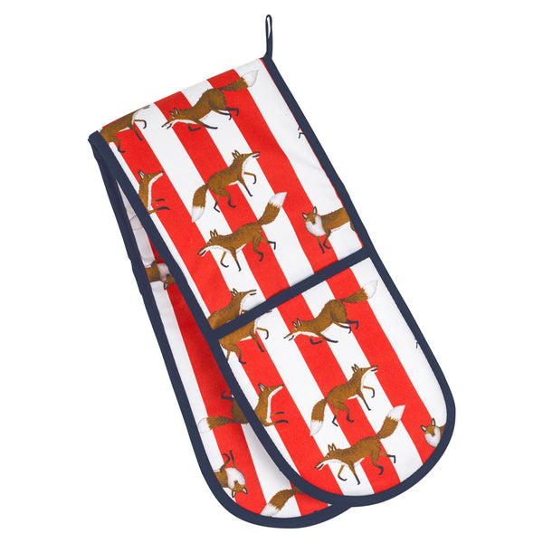 Fox Stripe Oven Gloves
