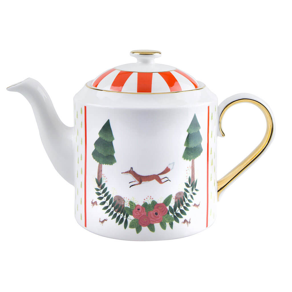 Fox and Rabbits Teapot