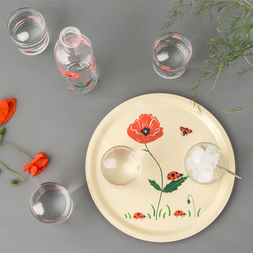Ladybird and Poppy Tray