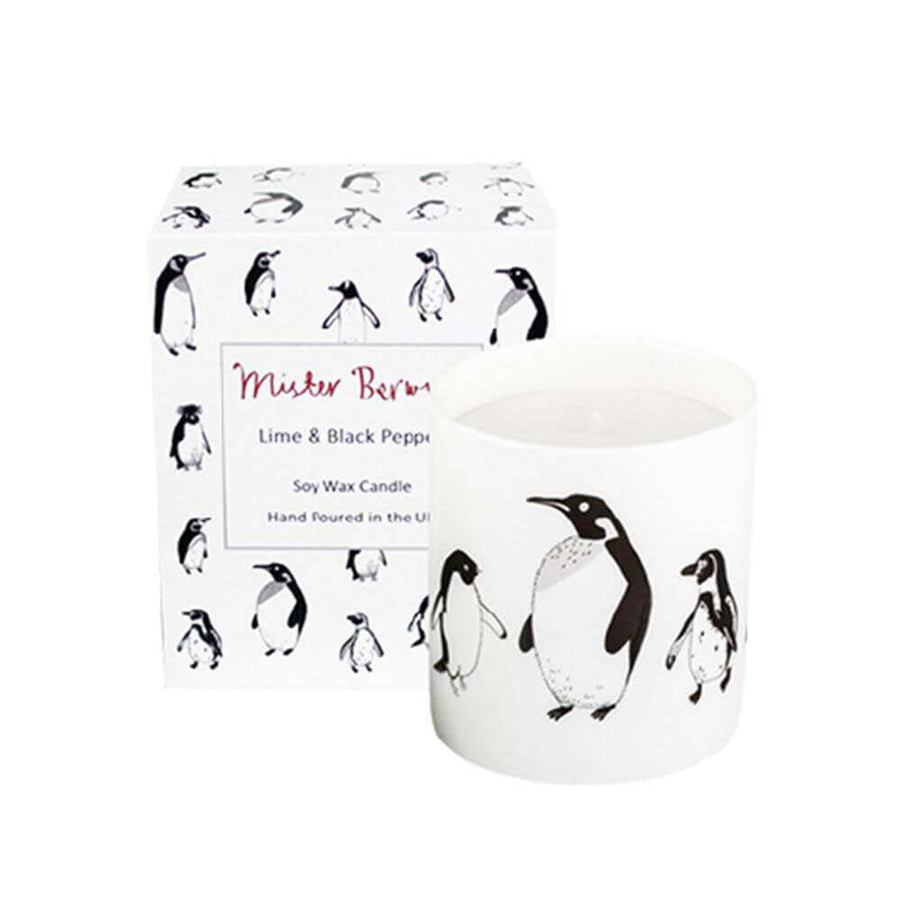 Lime & Black Pepper Penguin Candle