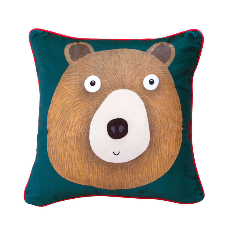 Miss Bear Velvet Cushion