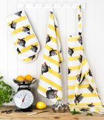 Monkey Stripe Oven Gloves