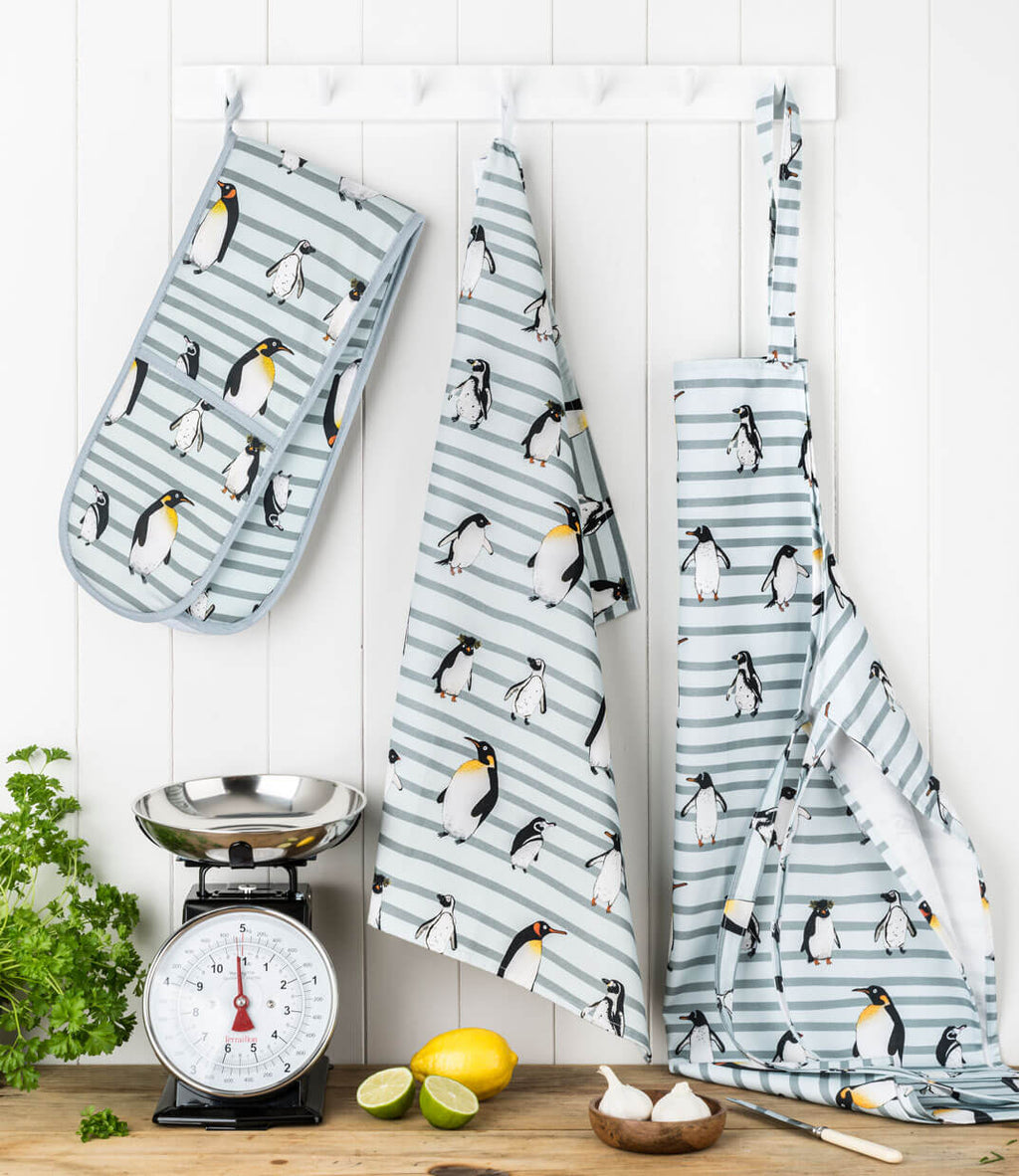 Penguin Waddle Tea Towel