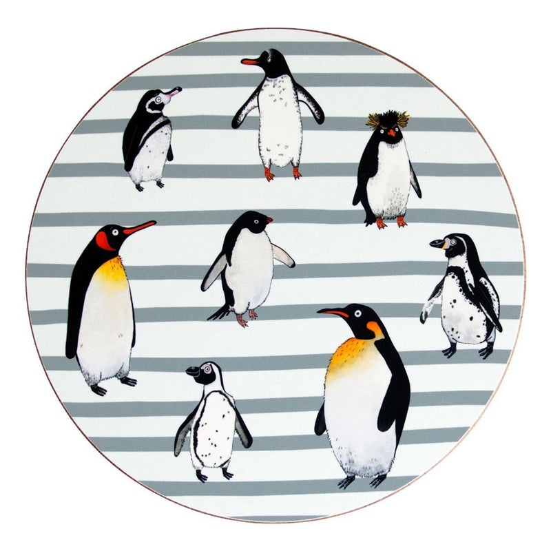 Grey Stripe Penguin Waddle Placemat