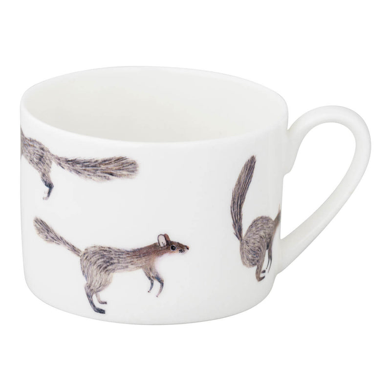 Acorn and Squirrel Cup and Saucer