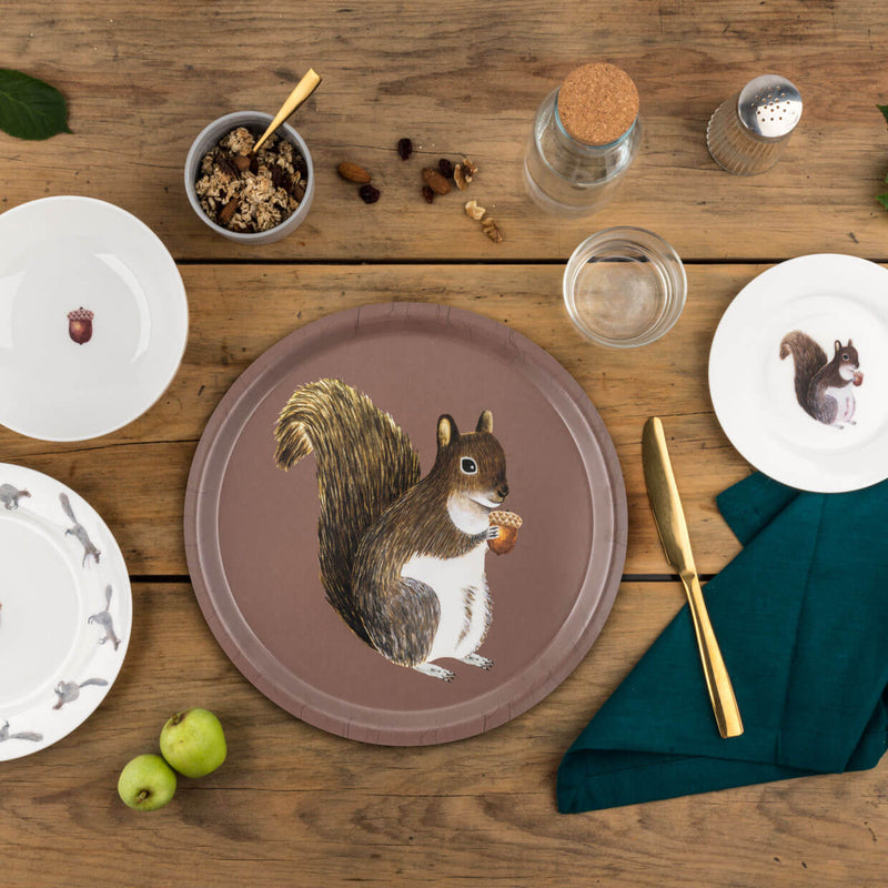 Squirrel Cake Plate