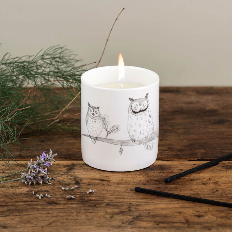 Vanilla Musk & Lavender Owl Candle