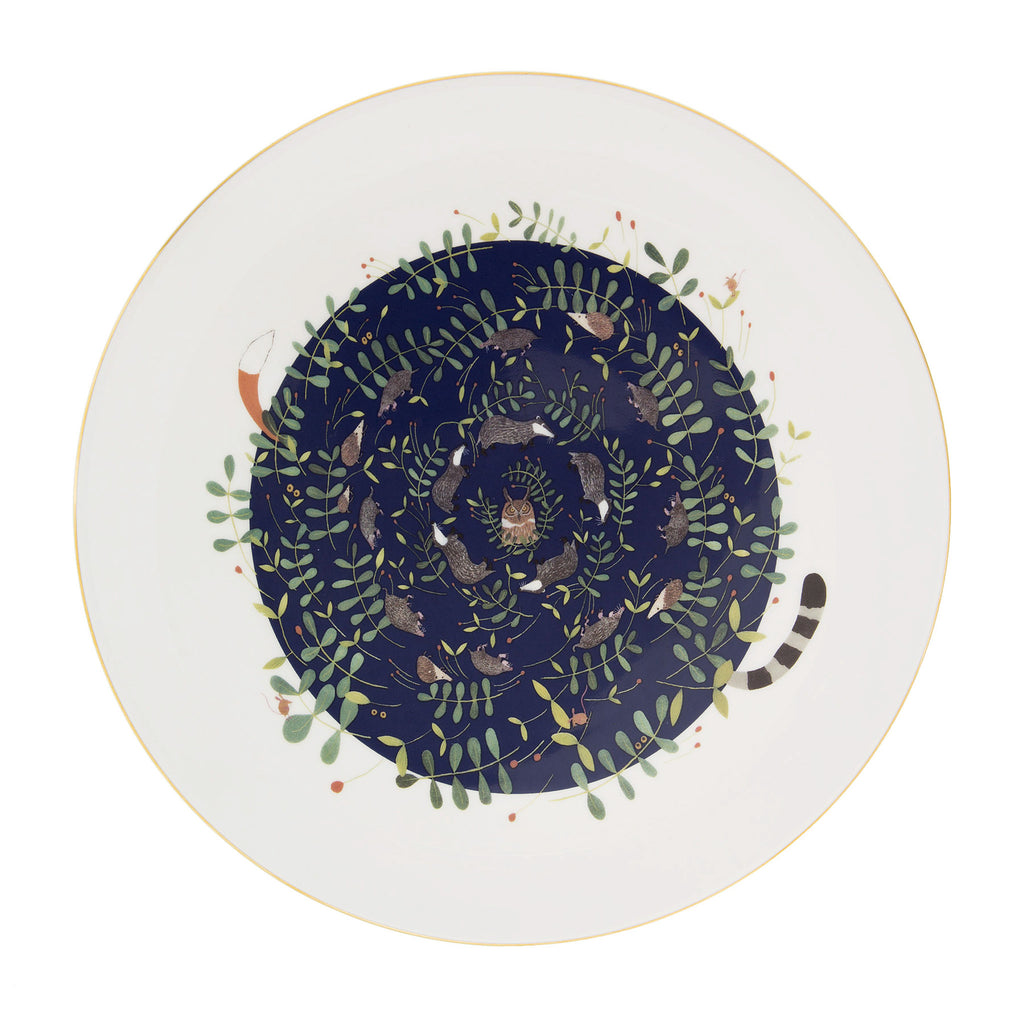 Large Nocturnal Animals Plate