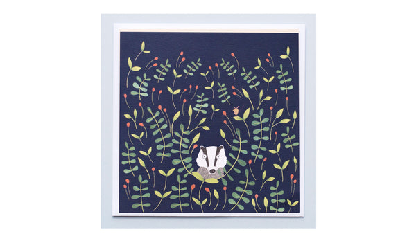 Nocturnal Badger Card