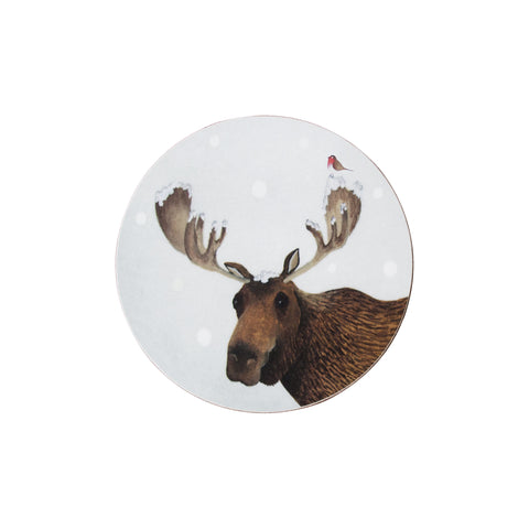 Christmas Moose Coaster