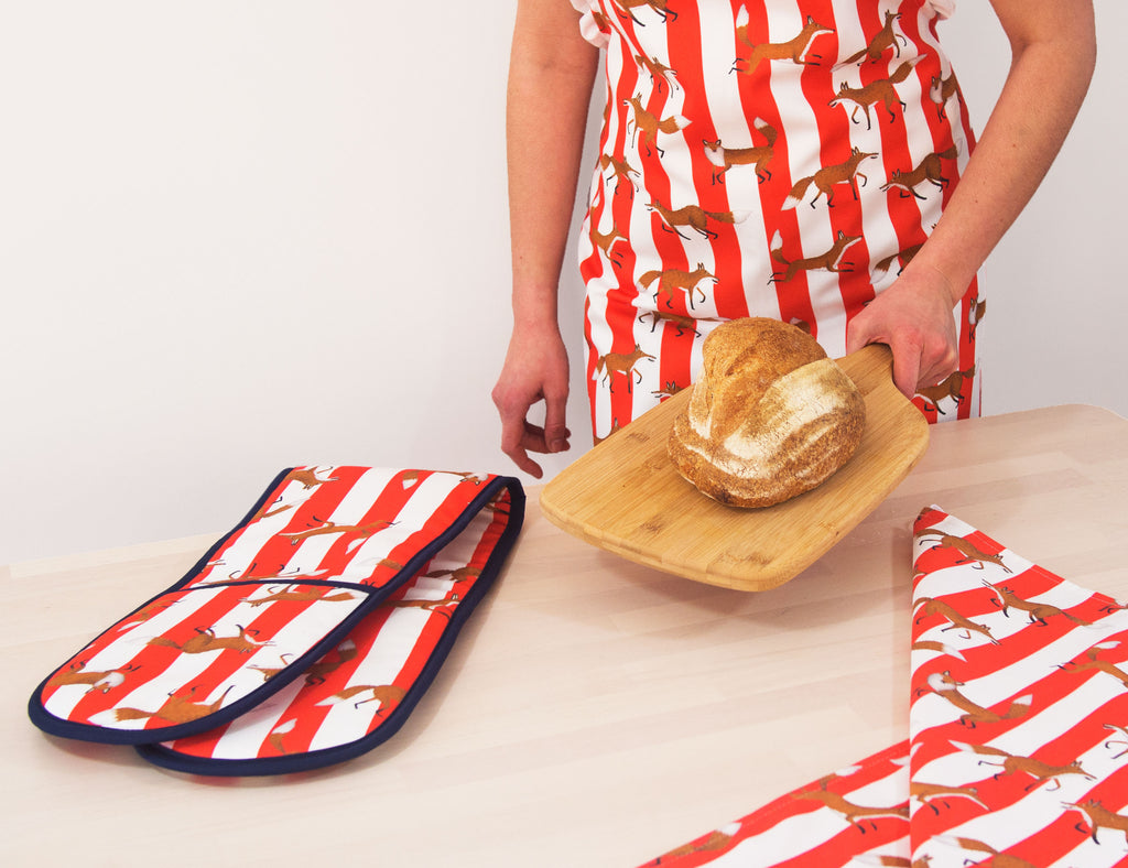 Fox Stripe Apron