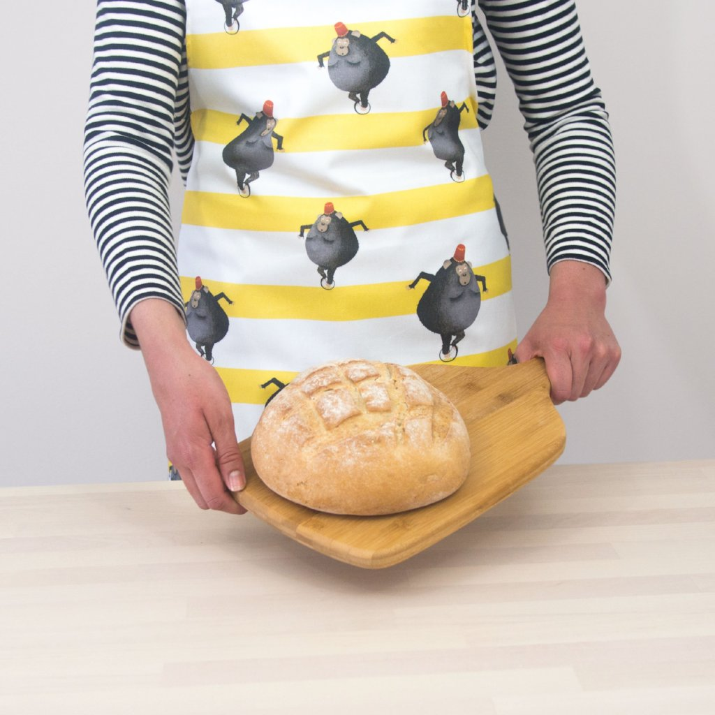 Monkey Stripe Apron