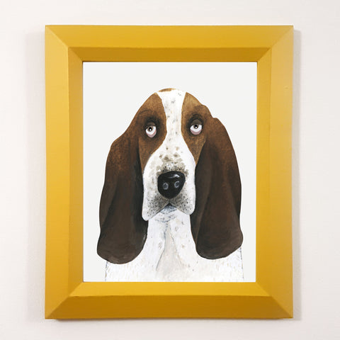 Poppy The Basset Hound Print