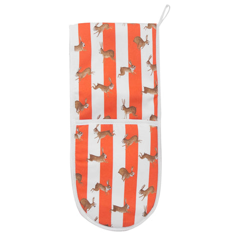 Rabbit Stripe Oven Gloves