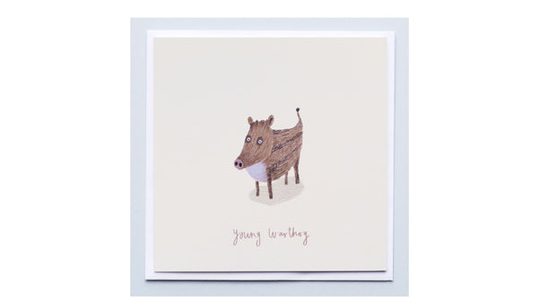 Young Warthog Card