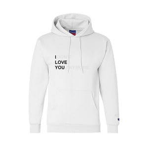 I DON'T LOVE YOU ANYMORE Champion Hoodie (White)