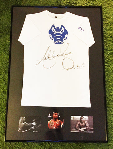 Gymgator T Shirt signed by Anthony Joshua