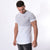 Men's Two-Panel Longline T-Shirt Light Grey/White