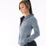 Womens Performance Hoodie (Grey/Pink)