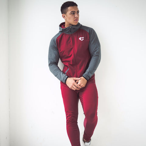 Men's Onyx Tracksuit Burgundy