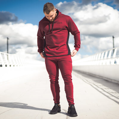Men's Icon Long sleeve Pullover Burgundy