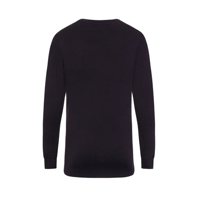 Men's Longline Navy Longsleeve T-Shirt