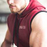 Men's Icon Sleeveless Hoodie Burgundy