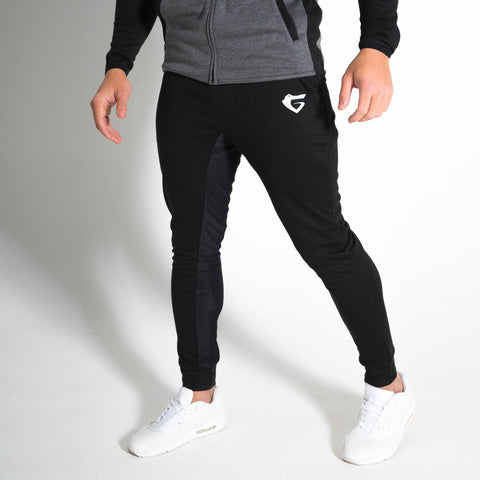 Men's Onyx Joggers gym wear with Gymgator logo