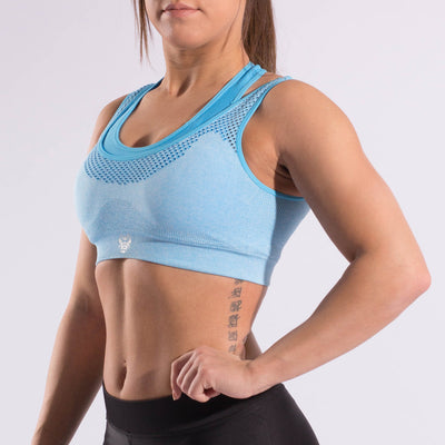 Womens Performance Sports Bra (Blue)